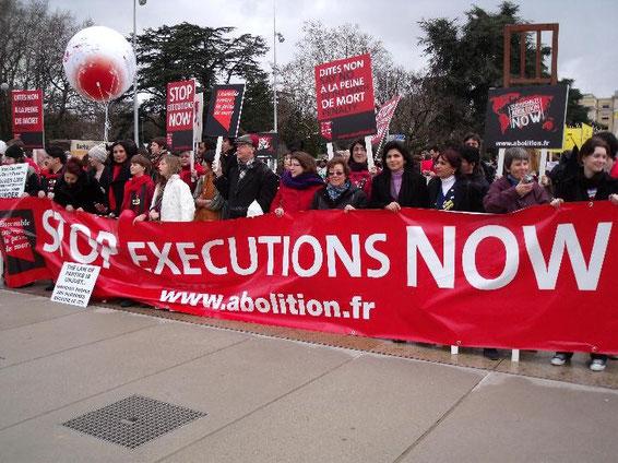 Vereint in dem Ziel: Stop Executions NOW!
