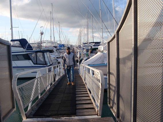 ponton & capitaine à marée haute