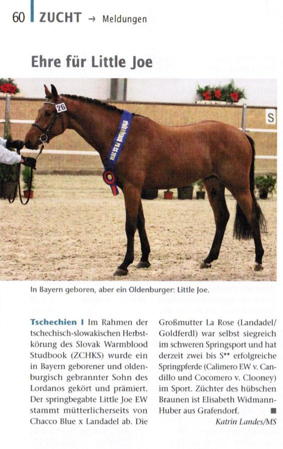 Quelle: Bayerns Pferde Zucht + Sport, Heft 3/2015