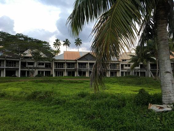 abandoned sheraton resort rarotonga, derelict building,