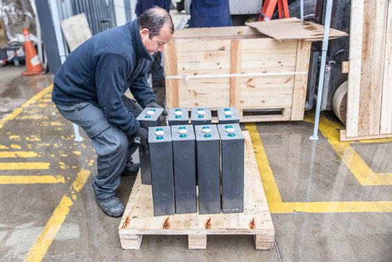35 kg eine Batterie