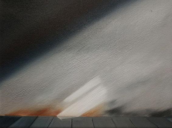 Dachboden, 2020, Öl auf Leinwand, 18x 24 cm