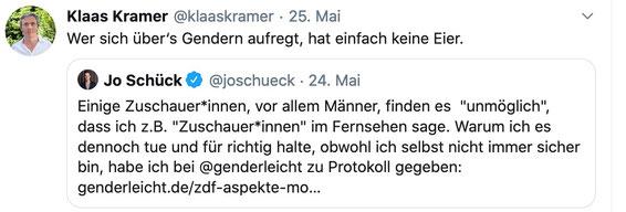 Twitter Klaas Kramer Gender