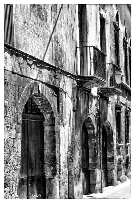 Strassenfront in der Altstadt von Palma.....