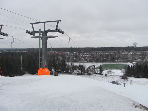 Skipiste mitten in der Stadt, Umeå