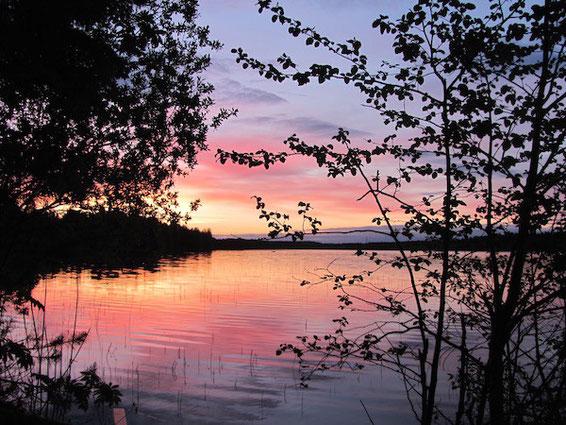 Sonnenuntergang am Nydala, Umeå