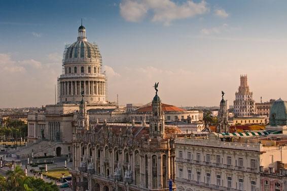 Havanna - Blick über die zentrale Plaza zum Capitolo