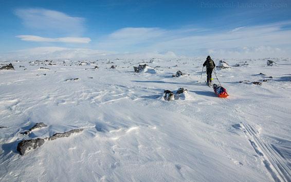 Útbruni, Primordial Landscapes, Jens Bachmann, Winter, ódáðahraun, Odadahraun, Trekking, Ski, Pulk