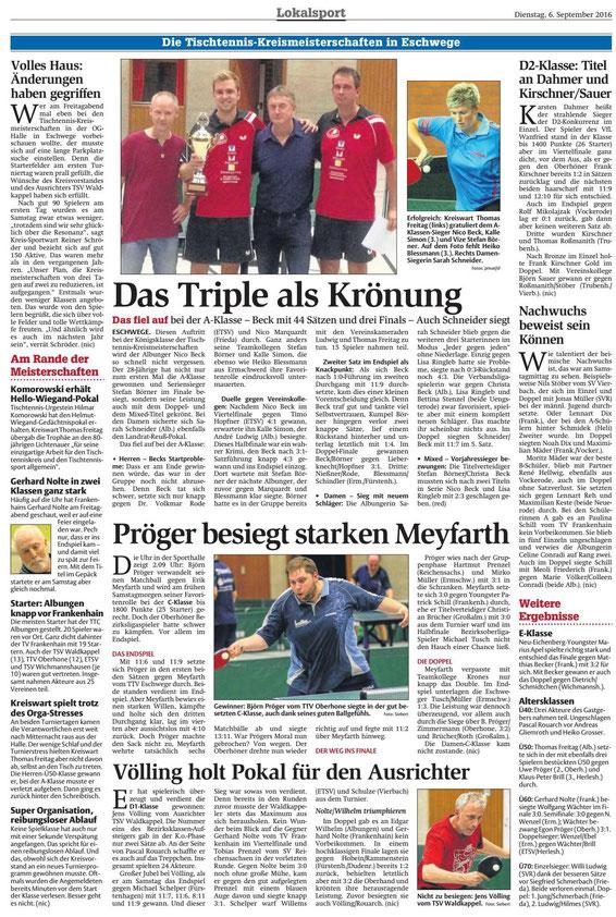 Werra-Rundschau vom 06.09.2017