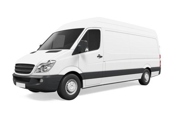 Weißer Lieferwagen
