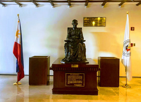 Statue of Apolinario Mabini, the first Secretary of Foreign Affairs of the Philippines, at the DFA lobby. (Photo by Allan Tangayan)