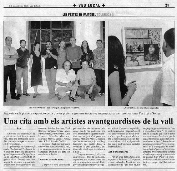Veu de Sóller: Exposición Sollerics (1), Galería Can Puig