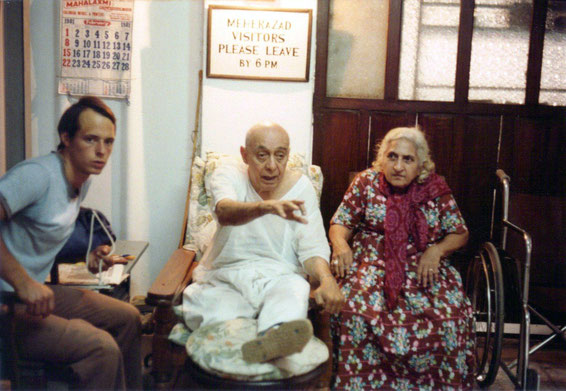 Pendu with Khorshed Irani and Peter Nordeen at Meherazad in the mid 1970s. Courtesy of Susan White