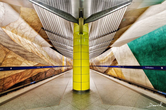 U-Bahnhof Großhadern München HDR