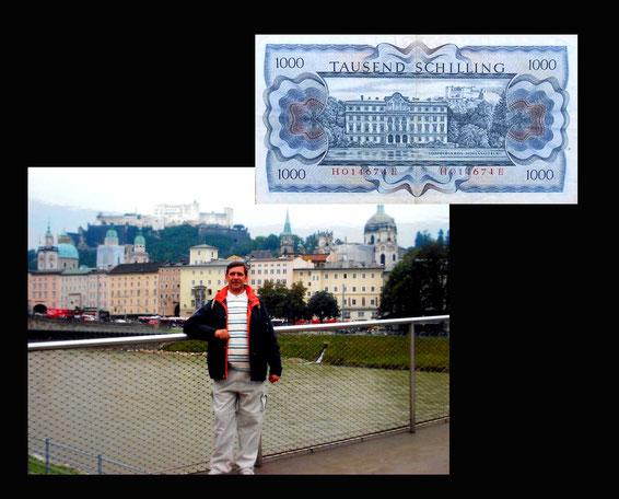 1000 shilling Austria desde el Skiline de Salzburgo