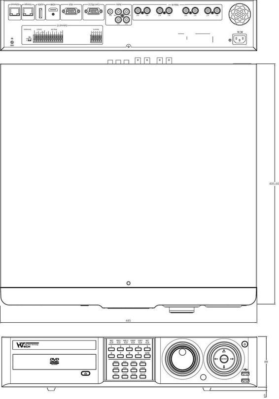 HD-SDI 8CH DVR図面