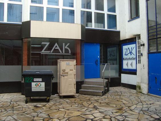 Hinterhof-Idylle: Der Eingang zum ZAK Kulturkeller