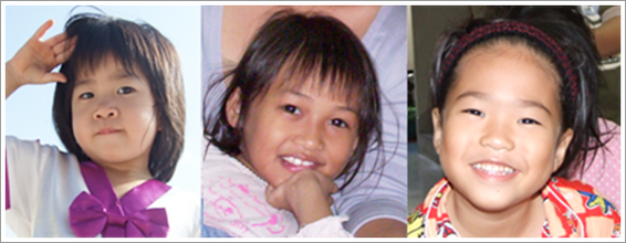 3 девочки из Таиланда посещают небеса
