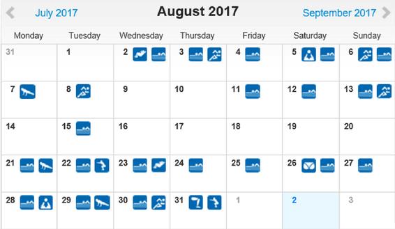 freaky routine, tägliche Übungen, Projekt 100, runtastic, Statistik August 2017