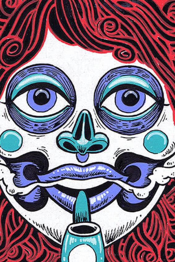 Acrylbild Gesicht