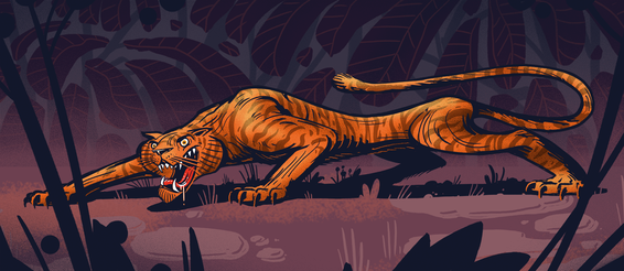 Hungriger Tiger Illustration