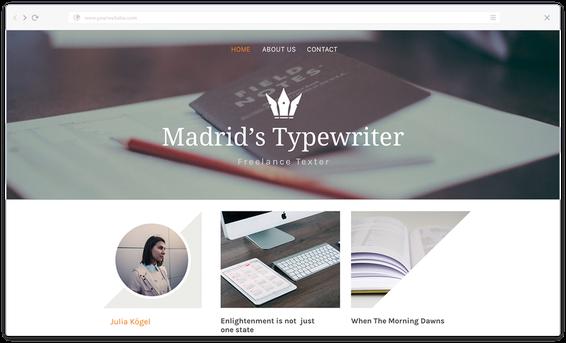 Jimdoを使ってホームページをデザイン