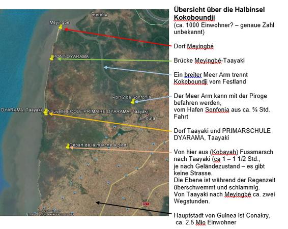 DYARAMA - vorrangiges Zielgebiet: Halbinsel Kokoboundji