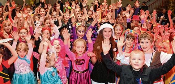Jede Menge Spaß hatten die Kinder beim traditionellen Faschingsfest.