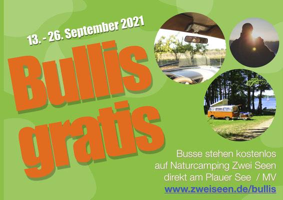 Bullis campen gratis - vom 15.-30. September 2017