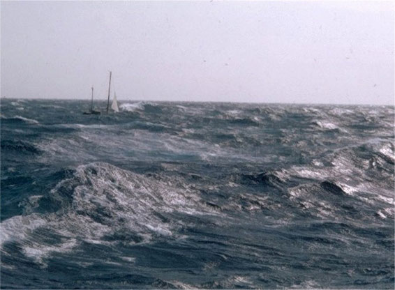 """Albatros"" trimaran sank in October 1972"