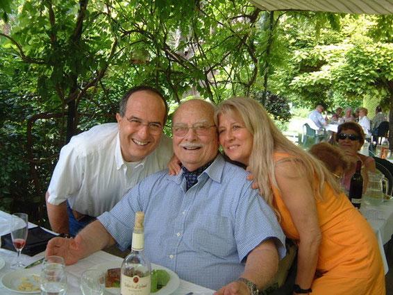 Fabio Barbaranelli with Federico Barbaranelli and Marta Bioletto (Angelo Bioletto's daughter)