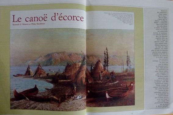 ROBERTS & SCHACKELTON, Le canoë d'écorce, in Chasse Marée 37, 1988 (la Bibli du Canoe)