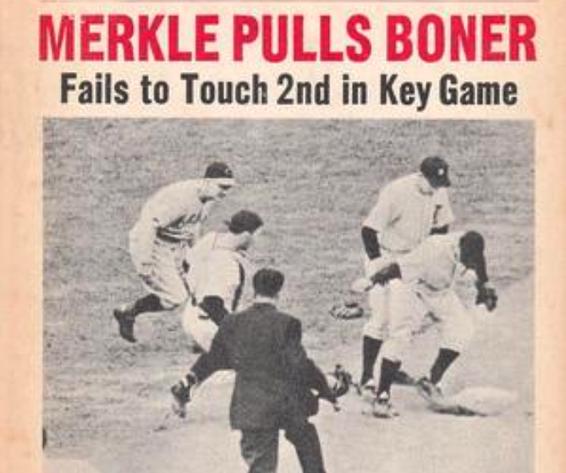 """Il gioco d'appello su Merkle """"Bonehead"""" nella partita tra Pirates e Cubs del 1908"""