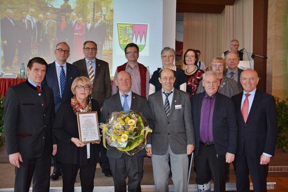 Ehrung Paul Kolb - 30 Jahre SK-Vorsitzender  - Sängerkreistag Bad Königshofen - 2016