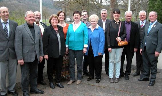 Vorstandschaft des Sängerkreises - gewählt in Bad Bocklet  - 23. März 2014