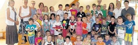 1. Felix-Wiederholung - Kindergarten Oberelsbach - Juli 2014