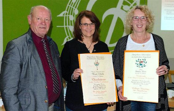 Goldene Stimmgabel -Birgit Schultz -Fuchsstadt / Goldener Ehrenkranz - Sandra Metz - Burkardroth - 2019