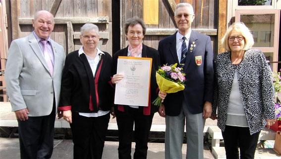 Goldene Stimmgabel für Monika Tengler - Ostheim -2019