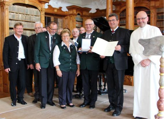 Verleihung der Zelter-Plakette an den GV 1906 Reiterswiesen - Kloster Roggenburg - 2016