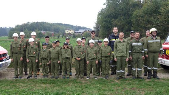 Jugendlöschübung in Weiterschwang mit der FF Baumgarting