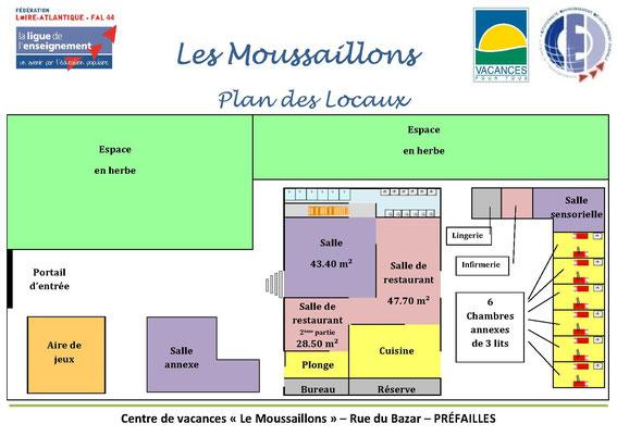Plan du centre - Bâtiment principal rez de chaussée