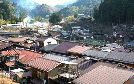 Une partie de Tsumago depuis le temple