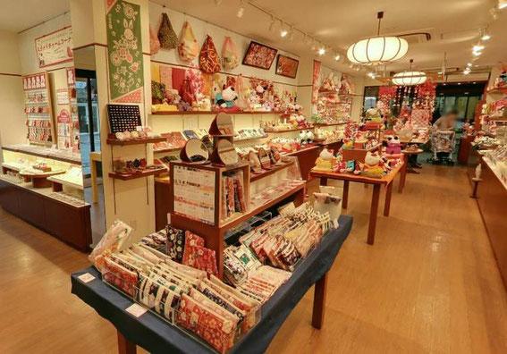 La boutique de Chirimen Craft et souvenirs artisanaux