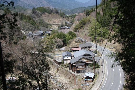 Trouée sur la vallée en approche de Kudaritani et Ōtsumago