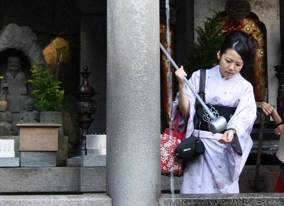 Otowa-No-Taki : le rituel de purification avant de boire