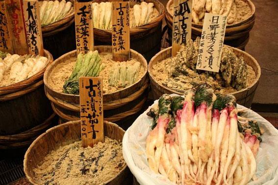 tsukemono macérés dans du son de riz