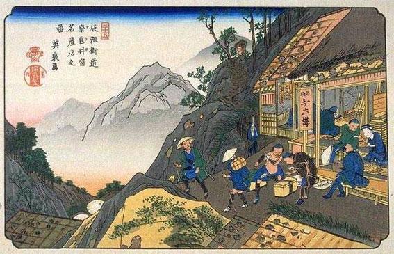 Tateba-chaya à Narai sur la route de Kiso