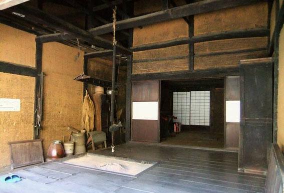 Shimo-Sagaya 上嵯峨屋 Taverne (milieu 18e) reconstituée. Les murs sont en torchis