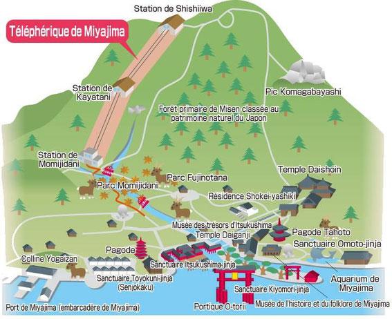 Le Mont Misen et le téléphérique