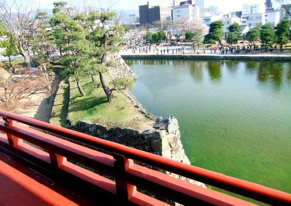 Depuis la terrasse du Tsukimi-Yagura